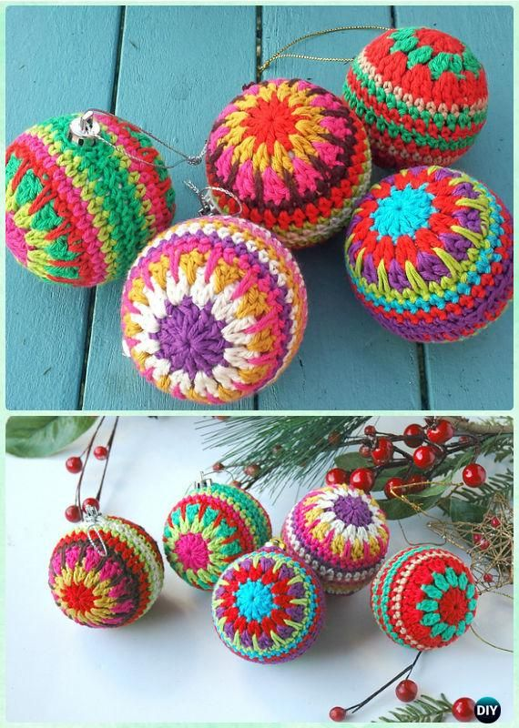 30 DIY Crochet Christmas Ornament Free Patterns | Crochet and