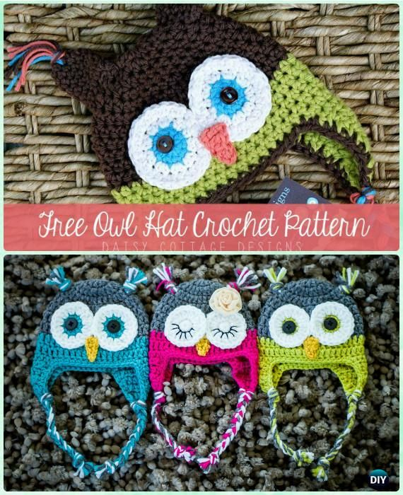 DIY Crochet EarFlap Hat Free Patterns [Picture Instructions