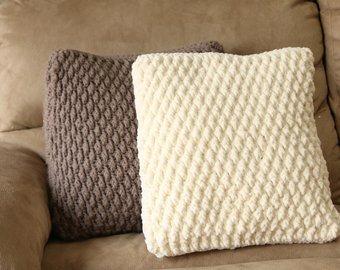 Crochet pillow   Etsy