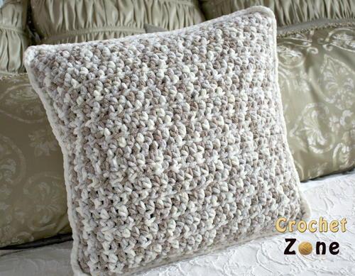 Neutral Crochet Pillow Pattern | AllFreeCrochet.com