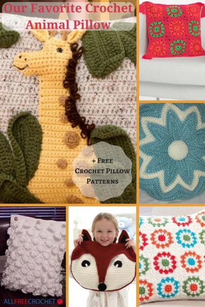 Our Favorite Crochet Animal Pillow + 11 Free Crochet Pillow Patterns