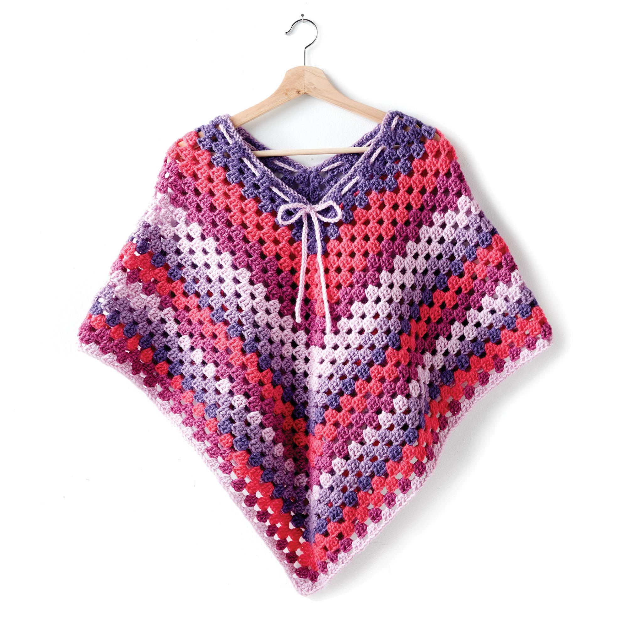 Bernat Girl's Crochet Poncho | Yarnspirations