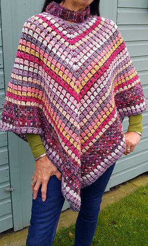 Ravelry: Desert Irony Poncho pattern by Kathryn Senior