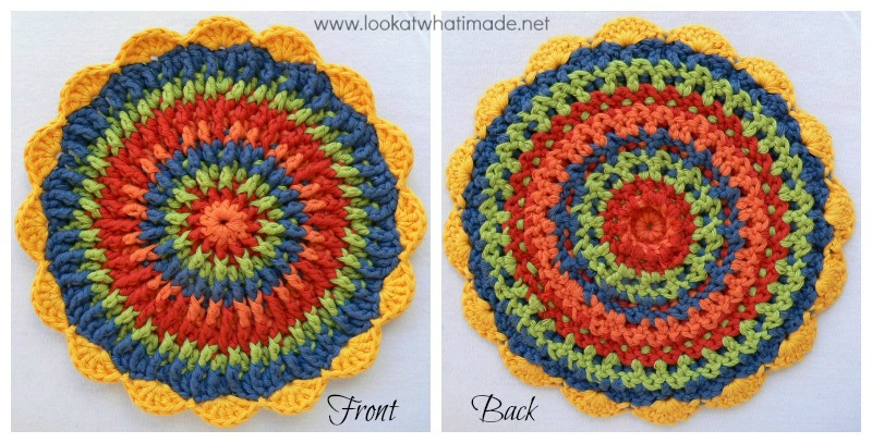 Front Post Frenzy Crochet Potholder ⋆ Look At What I Made