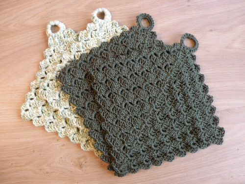 Pot holders for my mother (crochet) | crochet | Pinterest | Crochet