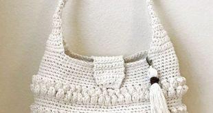 Crochet Purse with Tassel Pattern Easy by DeborahOLearyPattern