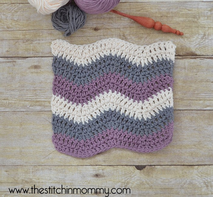 Crochet Ripple Stitch Tutorial and Dishcloth Pattern - The Stitchin