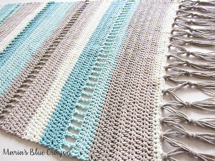 Coastal Indoor Rug - Free Crochet Pattern made with Caron Cotton