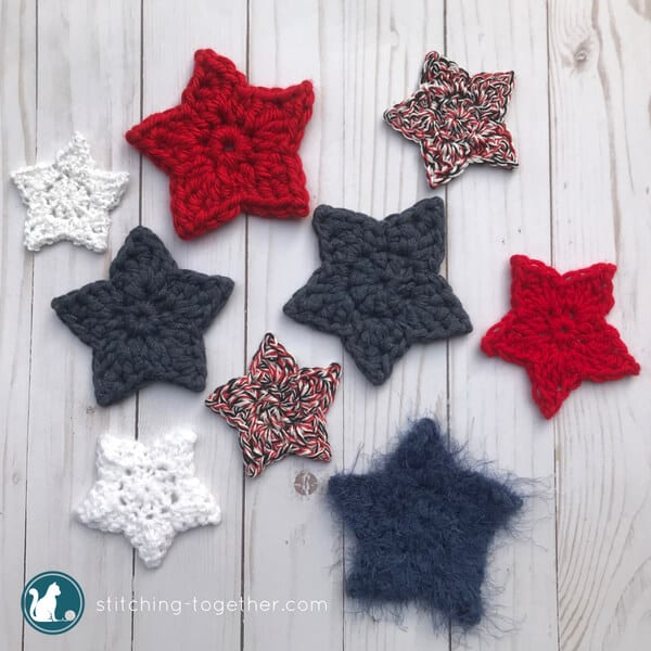 Simple Crochet Star Pattern | Stitching Together