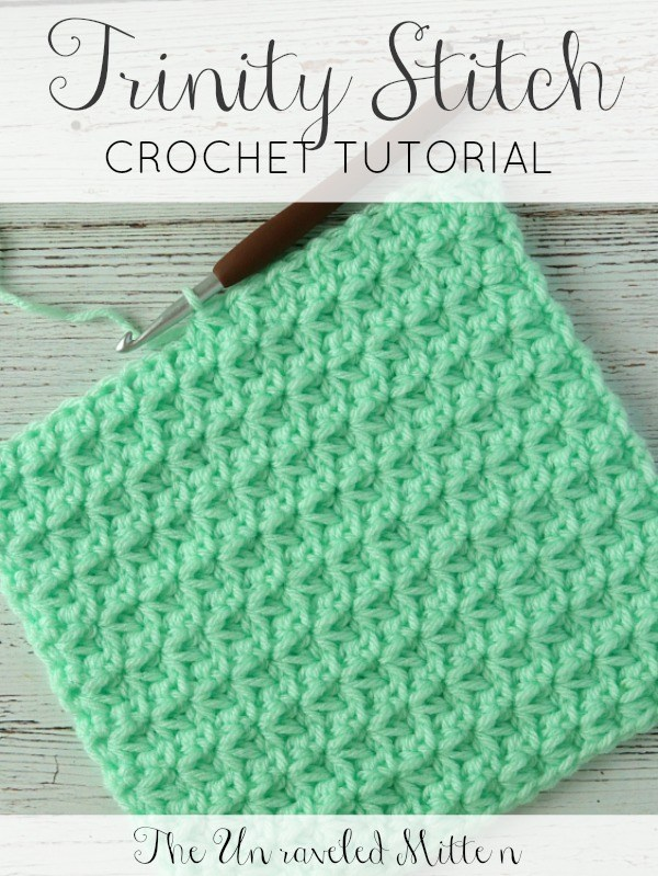 Crochet Stitch Tutorial: the Trinity Stitch | The Unraveled Mitten
