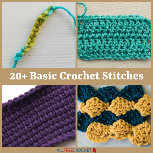 20+ Basic Crochet Stitches | AllFreeCrochet.com
