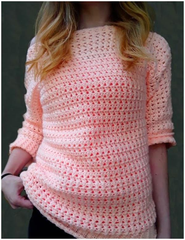 Boardwalk Crochet Sweater with Free Pattern | Pattern Center