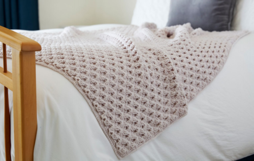 Hygge Happy Crochet Throw Pattern | AllFreeCrochetAfghanPatterns.com