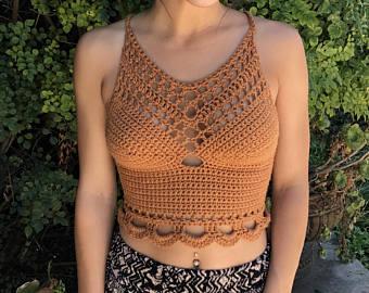 Crochet top | Etsy
