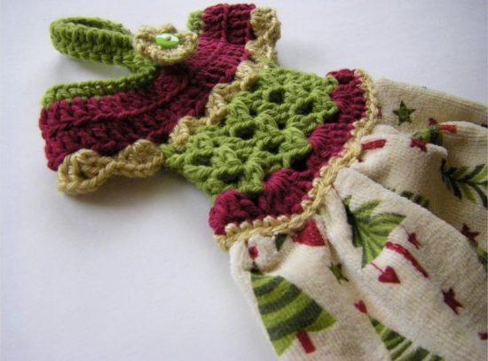 Crochet Dress Towel Topper Pattern Video Tutorial