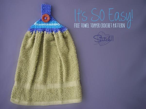 It's So EASY Towel Topper - Free Crochet Pattern - Stitch11