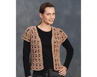 Crocheted Vest Pattern (Crochet) | Lion Brand Yarn