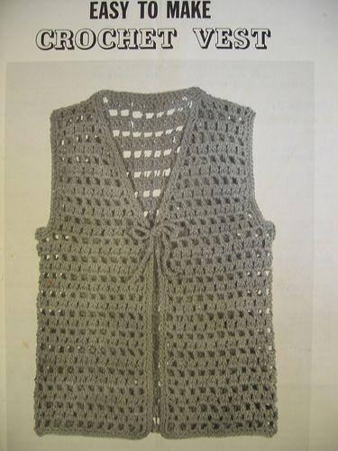 Easy to Make Crochet Vest | crochet | Pinterest | Crochet vest
