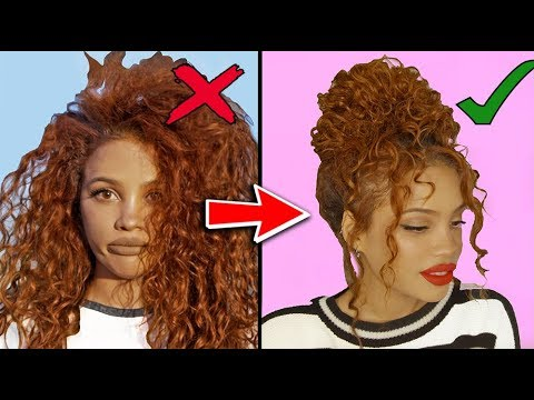 8 CURLY HAIRSTYLES FOR STUBBORN HAIR! - YouTube
