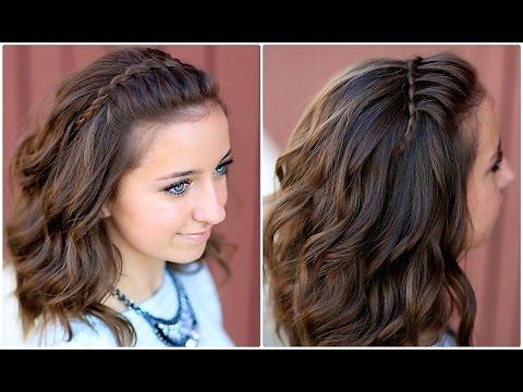 DIY Faux Waterfall Headband | Cute Girls Hairstyles - YouTube