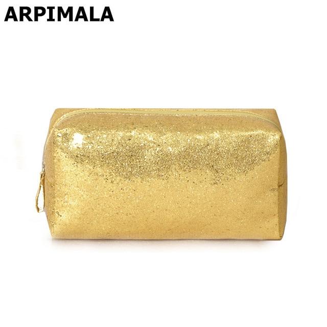ARPIMALA Designer Makeup Bags Sequins Luxury Cosmetic Bag