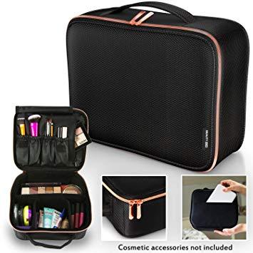 Amazon.com : Travel Makeup Bag - Premium Designer Cosmetic Bag with