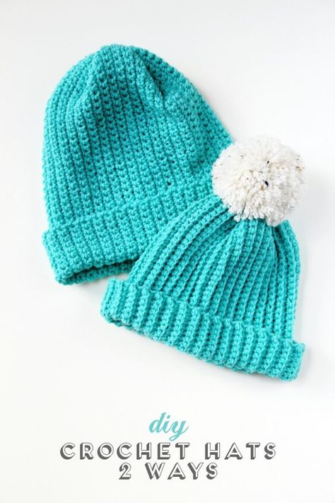 Make these easy Diy Crochet Hats - 2 different ways using the single