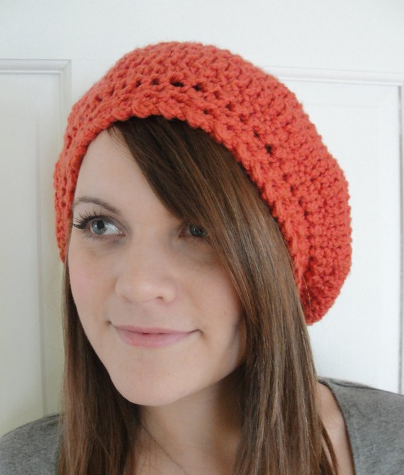 Easy CROCHET PATTERN Hat Women Slouchy Beret Slouchy Hat Crochet
