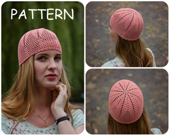 Written Crochet Pattern - DIY Crochet Beanie Pattern - Womens Filet