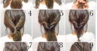 5 Minute Hair Bun fashion hair diy hairdo updo hairstyle bun