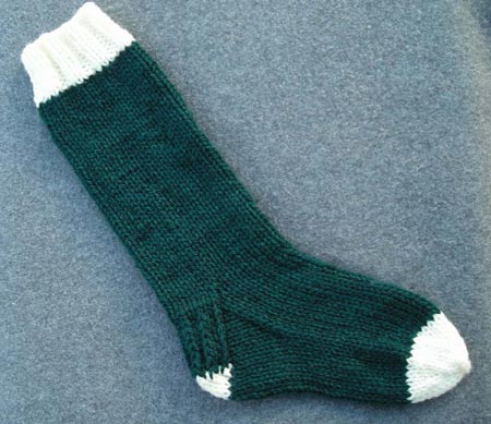 Easy Basic Free Christmas Stocking Knitting Pattern