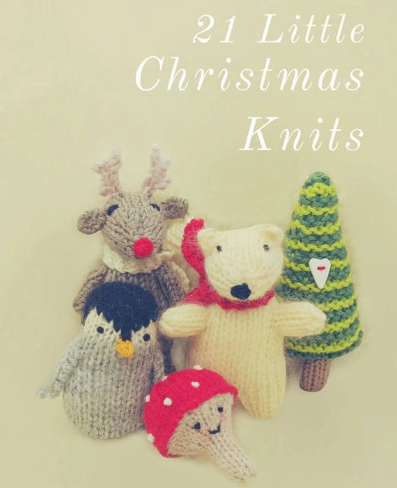 21 Christmas Knitting Pattern Decorations Ornaments Toys Gifts | Etsy