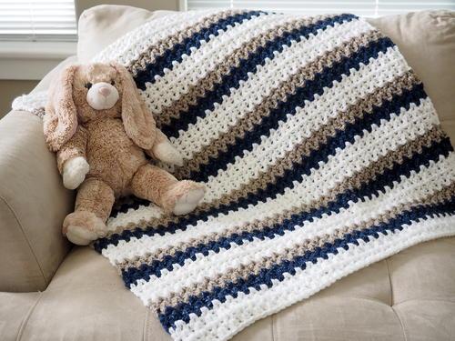Easy 'Done in a Day' Crochet Baby Blanket | AllFreeCrochet.com