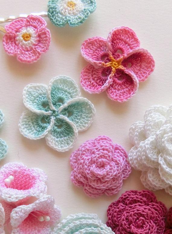 Crochet flower pattern Crochet Plumeria Frangipani pattern | Etsy