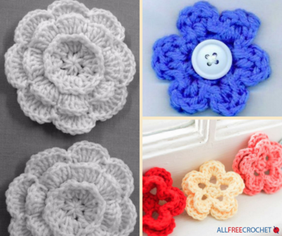 How to Crochet Flowers: 3 Easy Crochet Flower Patterns