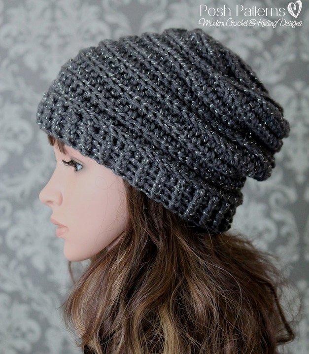 Crochet PATTERN Easy Crochet Pattern Crochet Slouchy Hat | Etsy