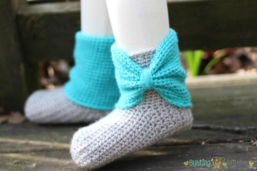 Cute Crochet Slipper Boots | FaveCrafts.com