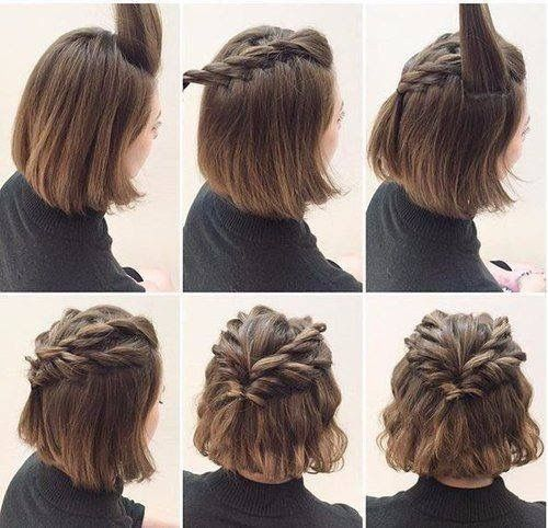 Hairstyles for short hair, twisted hair styles easy hairstyles ,this