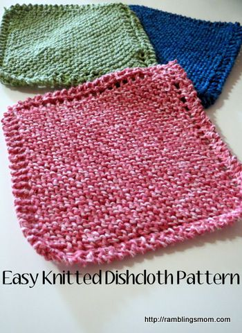 knit dishcloth pattern, super easy! Great idea for a handmade