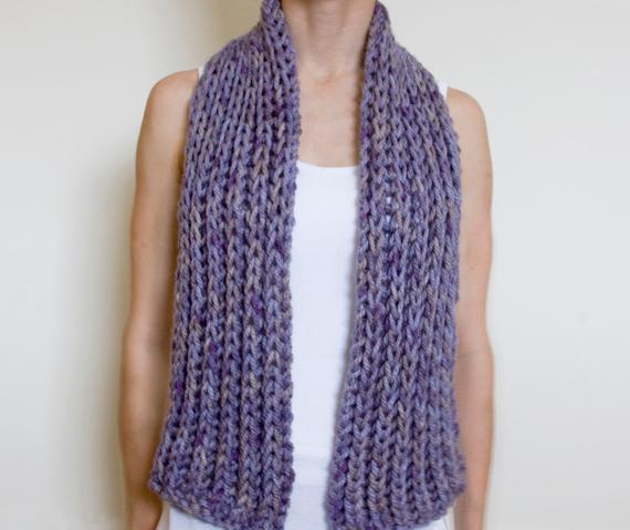 Easy knit scarf patterns for beginners - Crochet and Knitting