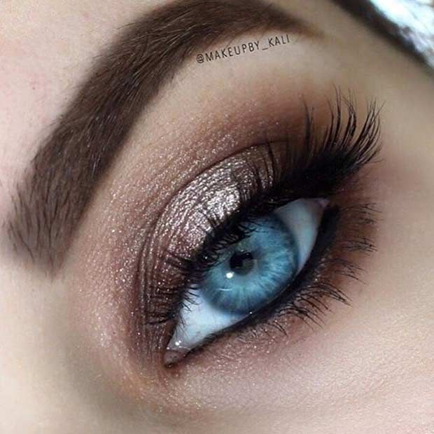 31 Eye Makeup Ideas for Blue Eyes | StayGlam Beauty | Eye Makeup