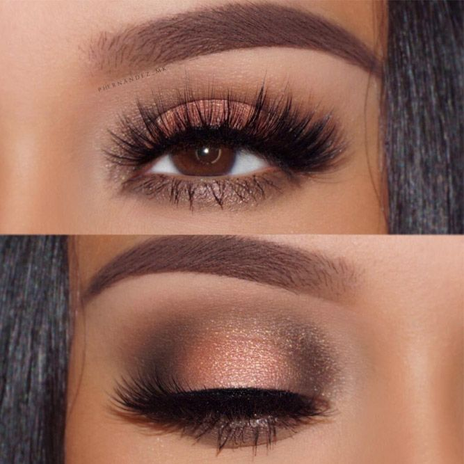 How to apply eye makeup for brown eyes to   make the eyes more attractive?