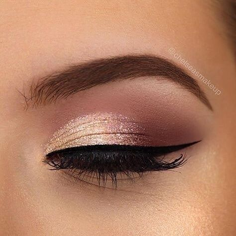 Rose gold eye makeup ideas #eyemakeup #weddingmakeup | Art in 2019