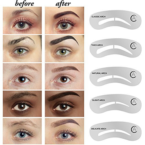 Aesthetica Cosmetics Brow Contour Kit u2013 16-Piece Contouring Eyebrow