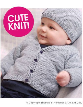 Eight by Six: free knitting pattern - baby cardigan Twilleys Freedom