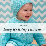 Selection of free baby knitting patterns