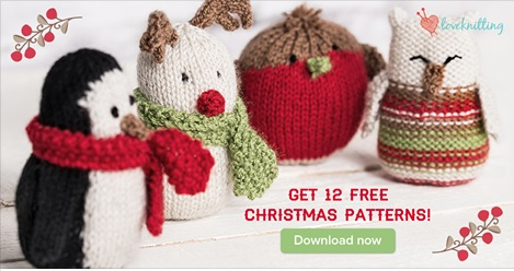 12 Free Christmas Knitting Patterns -