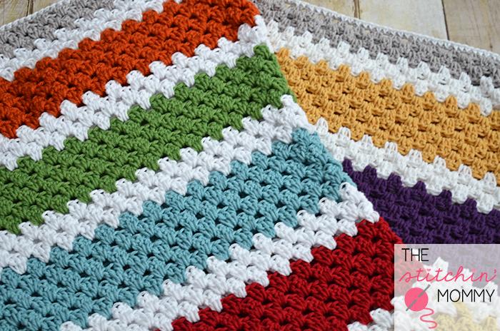 Stashbusting Granny Stripe Crochet Afghan