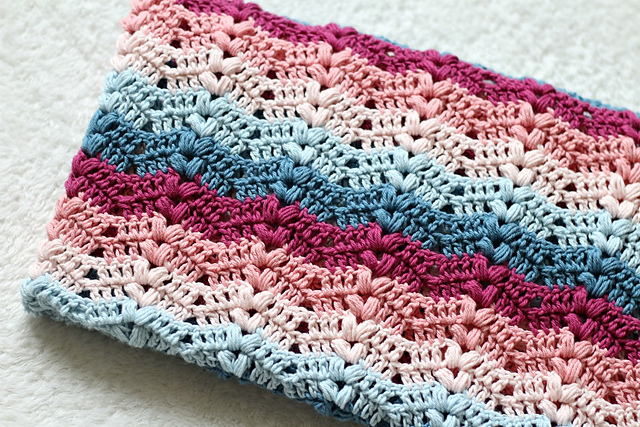 Ruby Baby Blanket Free Crochet Pattern | Free Crochet Patterns