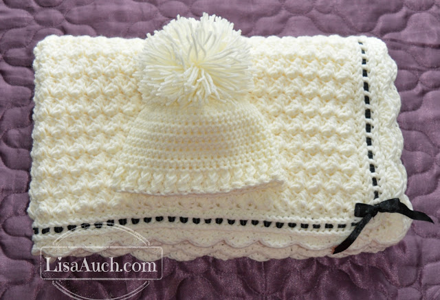 Free Crochet Patterns and Designs by LisaAuch: Crochet Baby Blanket